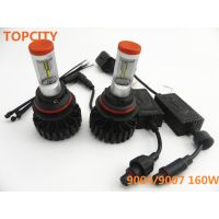 super bright led headlight bulbs 9004 9007 orange cap headlight 6000k white heal lamp