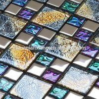 mirror glass mosaic tile,wall crystal decorative tile thumbnail image