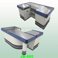 cash counter for shops,supermarket checkout counter, round reception desk