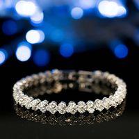 Diamond Bracelet Women Three diamonds setting design Diamond Bracelet