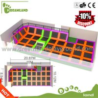 Wholesale Indoor&outdoor trampoline with foam blocks,Fun Jump Bungee trampoline thumbnail image