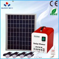 10Wmini portable solar pv system for home,solar lighting kit