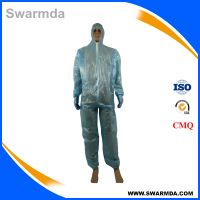High Quality Disposable medical nonwoven pe Coverall