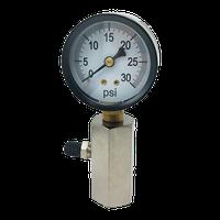 "1/2"" Vertical Gas Test Gauge thumbnail image"