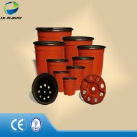 Double color planter, plastic vacuum pots
