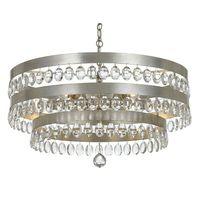 Crystorama Perla 6 Light Antique Silver Chandelier - 6108-SA