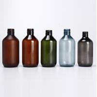 8 oz 16 oz 250ml 500ml Amber Grey Plastic Bottles with Pump Dispenser Liquid Soap packaging bottle thumbnail image