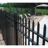 Aluminum picket fence for home garden outdoor usage
