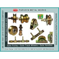 Gate Pulley / Gate Track Wheels and Fancy Gate Square Handles