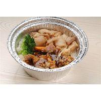 round aluminum foil food container