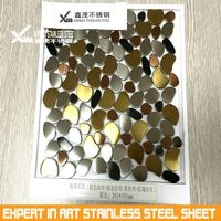 customized sliver brushed 304 stinless steel mosaic title