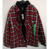 Mens' Flannel Coat with Fleece Lining & Hood