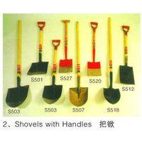 shovel , forks , rakes,machete, sickles, steel pick, hoe heads, thumbnail image