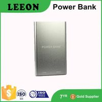 Universal wallet size aluminum power bank 5000mah portable external battery