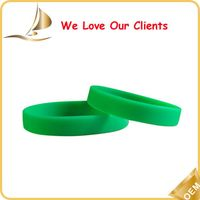 Custom blank silicone wristband