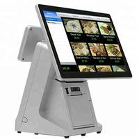 New arrival 15.6 inch touch screen POS system with 80mm printer windows/android cash register