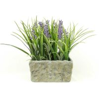 Faux greenery potted lavender