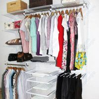 Ingenious wire closet shelves for all wardrobes