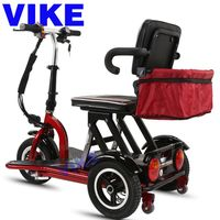 Factory Direct Double Elderly Leisure Electric Tricycle Folding Electric Adult Disabled Car Double L
