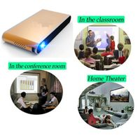 3D Projector, DLP Smart Projector, Connection with WiFi, Support HD 1080P Video