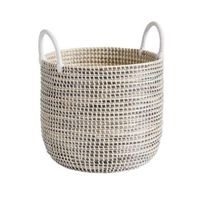 Vintage Seagrass Rattan Basket From Glovimex Vietnam SB02 thumbnail image