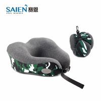 Factory wholesale custom logo u shaped travel neck pillow memory foam