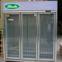 glass door beverage 3 door convenience store refrigerators