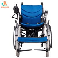 China wheelchair manufacturer four wheel foldable electric wheelchair