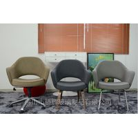foshan modern design Executive Armchair office chair with wooden base thumbnail image