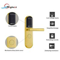 RX1088E-J electric proximity card hotel door handle lock