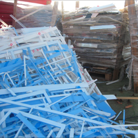 PMMA-ACRYLIC Strips (Labels Cut-OFF) (Extrusion Grade) Mix Colors Scrap - Waste
