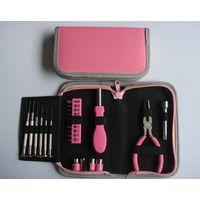 23 Piece Pink Hand Tool Set,Home Tool Kit,General Purpose Tools For Ladies thumbnail image