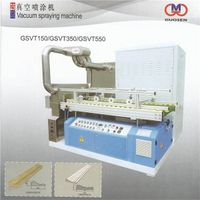Vacuum spraying machine