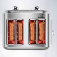 Retro Stainless Steel Toaster ST027 Retro Classic Design thumbnail image
