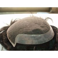 Human Hair Swiss Lace With Pu front men's Toupee thumbnail image