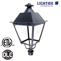 LED Post Top Luminaire, 50W/5200lm/3000K/cETLus and DLC Qualified, 5-year Warranty
