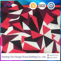 Geometry Print Polyester Lycra Speedo Swimwear Bathing Suit Fabric