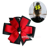 Large boutique hair bow for girls hair thumbnail image