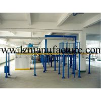 Electrostatic powder coating plant