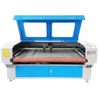 Cnc laser cutting machine for fabric flower leather shoes 1610