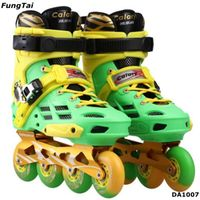 Street Slalon Inline Skate Shoes 4 Wheels for Men Women (DA1007)