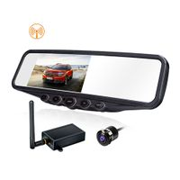 Car Security System with 4.3-Inch Mirror Monitor Wireless Transmitter Waterproof Flush Mounted Cam thumbnail image