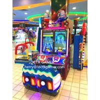 China Suppliers Indoor Amusement Coin Operated Redemption Kids Car Racing Game Curving Spaceship fo