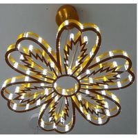 Gold plated Bed room pendant Light with LED thumbnail image