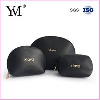 Wholesale Black Small Cosmetic Bag Leather Pouch
