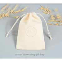 cotton drawstring gift bag