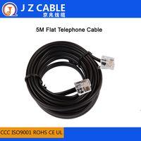 6P6C RJ12 Flat Telephone Cable