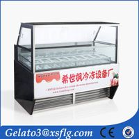 B21 Popsicle air cooler ice cream showcase display for sale