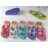 New design cute cartoon characters printed eva beach kids rubber flip flops thumbnail image