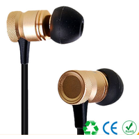 Universal Metal In-ear Headphones cable with Microphone Bass